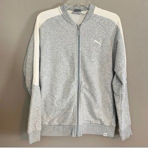 (4 @ $25) Puma Grey/White Zip Front Sweatshirt